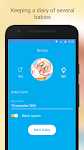 screenshot of Baby Breastfeeding Tracker. Newborn Baby Care App