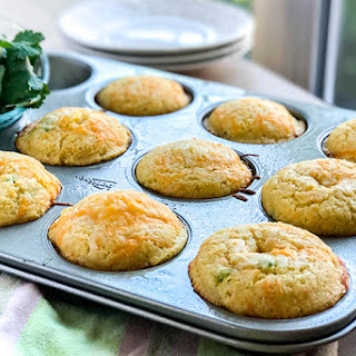 Jalapeno Popper Corn Muffins with Bacon and Cheddar.