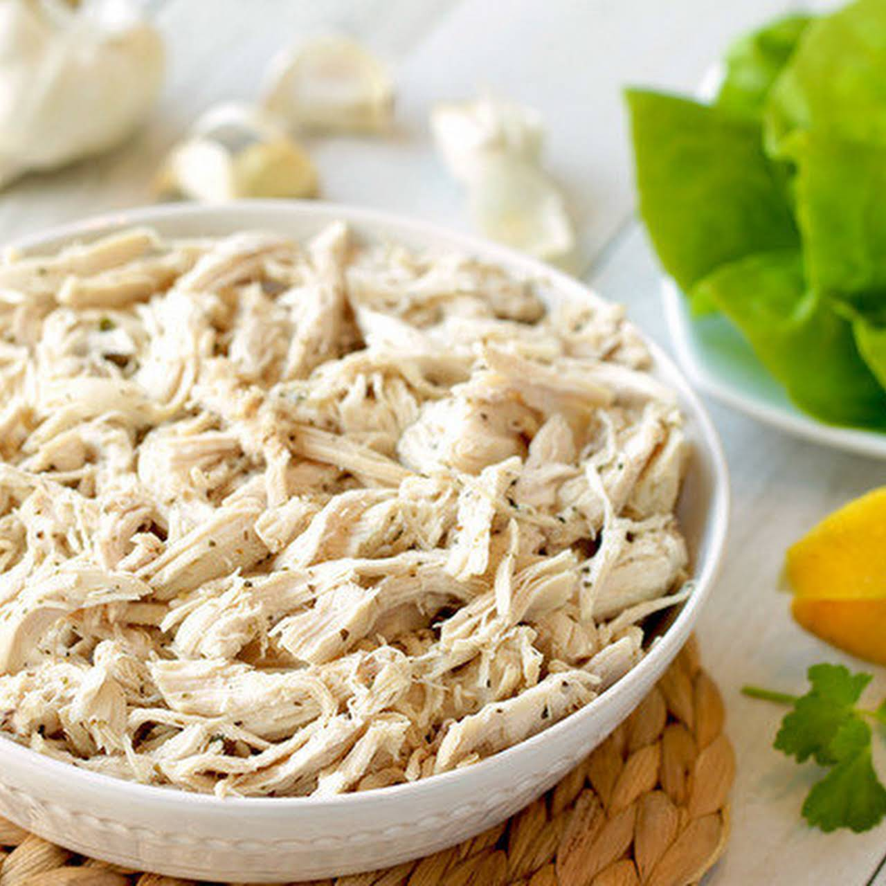 Go-to Garlic and Herb Shredded Chicken