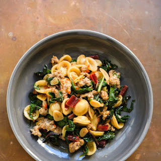 Orecchiette with Sausage and Chard.