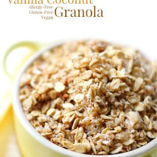 Slow Cooker Vanilla Coconut Granola (Gluten-Free, Vegan) Recipe