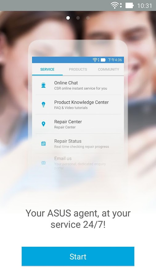 MyASUS - Service Center- screenshot