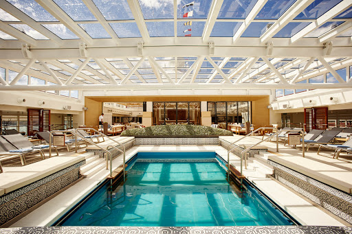 Viking-Star-Main-Pool-roof-closed - Travelers will have three swimming pools to choose from, including a main pool that features a retractable roof.