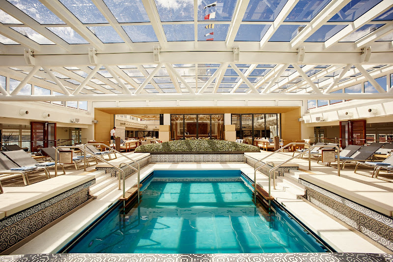 The main pool on Viking Star features a retractable roof.