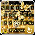 Gold Diamond Butterfly Keyboard Theme icon