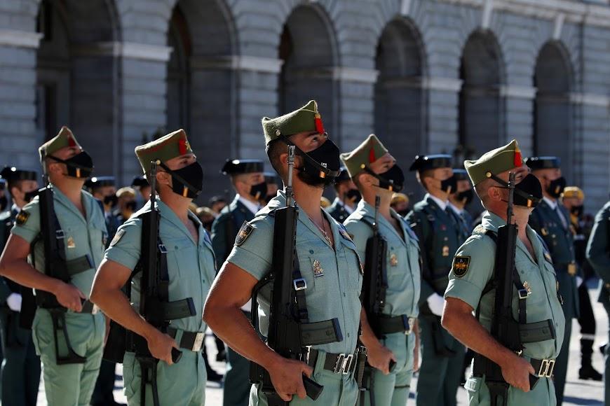 La Legión durante la celebración del Día de la Hispanidad.