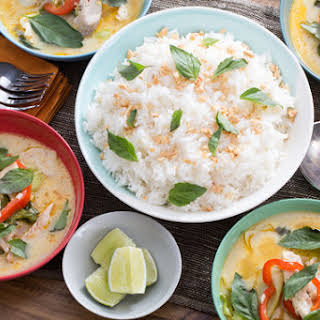 Coconut Fish Curry with Baby Bok Choy & Jasmine Rice.