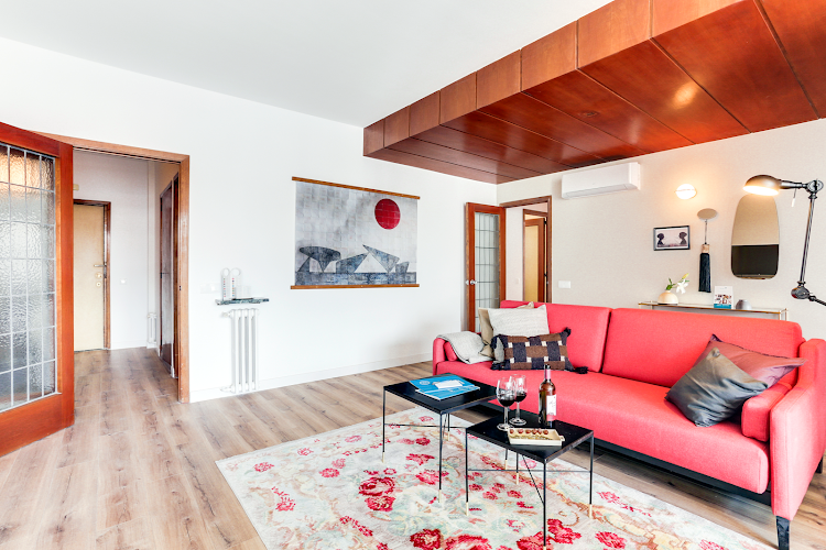 Living room at Eixample Borrell