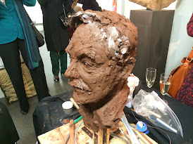 Frances Segelman Sculpts Sir Derek Jacobi at the London Film Museum