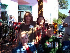 Photo: Suzy (Wright) Thomas, Linda (Wilson) Mitchell, Nancy (Seiler) McCarthy, Carol (Craven) Barnes