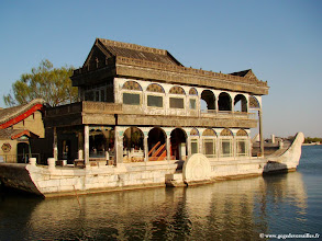 Photo: #010-Le bateau de marbre au Palais d'Eté à Pékin