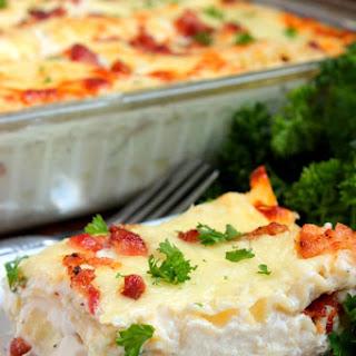 Chicken Bacon Alfredo Lasagna.