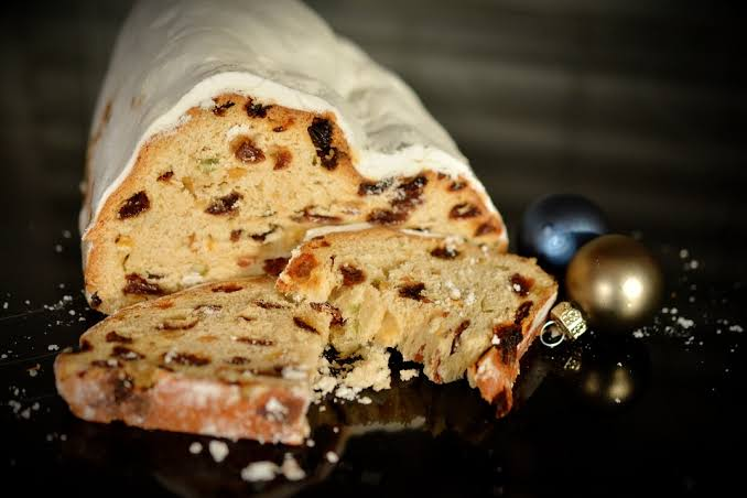 German Christmas food to enjoy - Stollen.