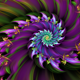 Spiral 71 by Cassy 67 - Illustration Abstract & Patterns ( digital, love, harmony, surreal, abstract art, trippy, spiral, abstract, creative, fractals, digital art, psychedelic, modern, light, fractal, style, energy, fashion )