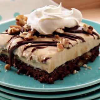 Turtle Brownie Ice Cream Dessert Recipe