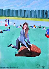 """Photo: Un après-midi au grand canal (162*114 cm) huile sur toile 2010 Exposé           à """"LA LOUVIERE"""" 2011 Amis des arts"""