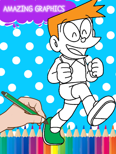 Nobita Super Heroes Coloring  screenshots 2