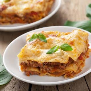 Simple Sausage Crockpot Lasagna.