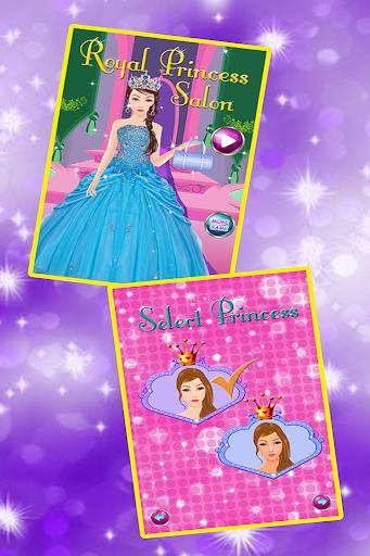 王室の美容サロンの女の子のゲーム