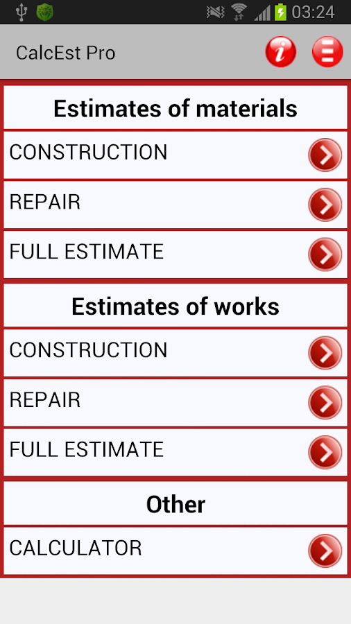 Calcest calculator estimator android apps on google play for Home construction estimate calculator