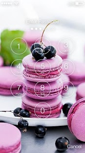 Macarons PIN Lock Screen - náhled