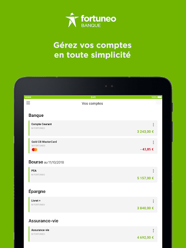 Fortuneo, mes comptes banque & bourse en ligne 8.3.3 Screenshots 9