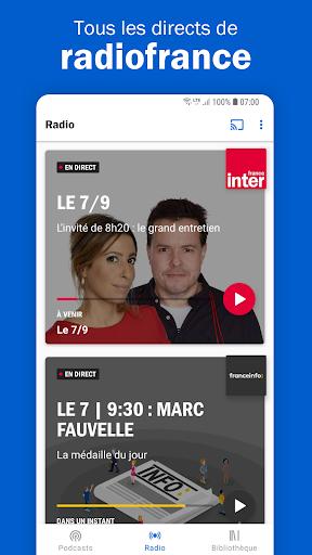 Radio France - podcasts, direct radios 6.5.2 screenshots 1