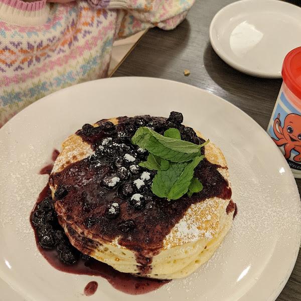 GF blueberry pancakes