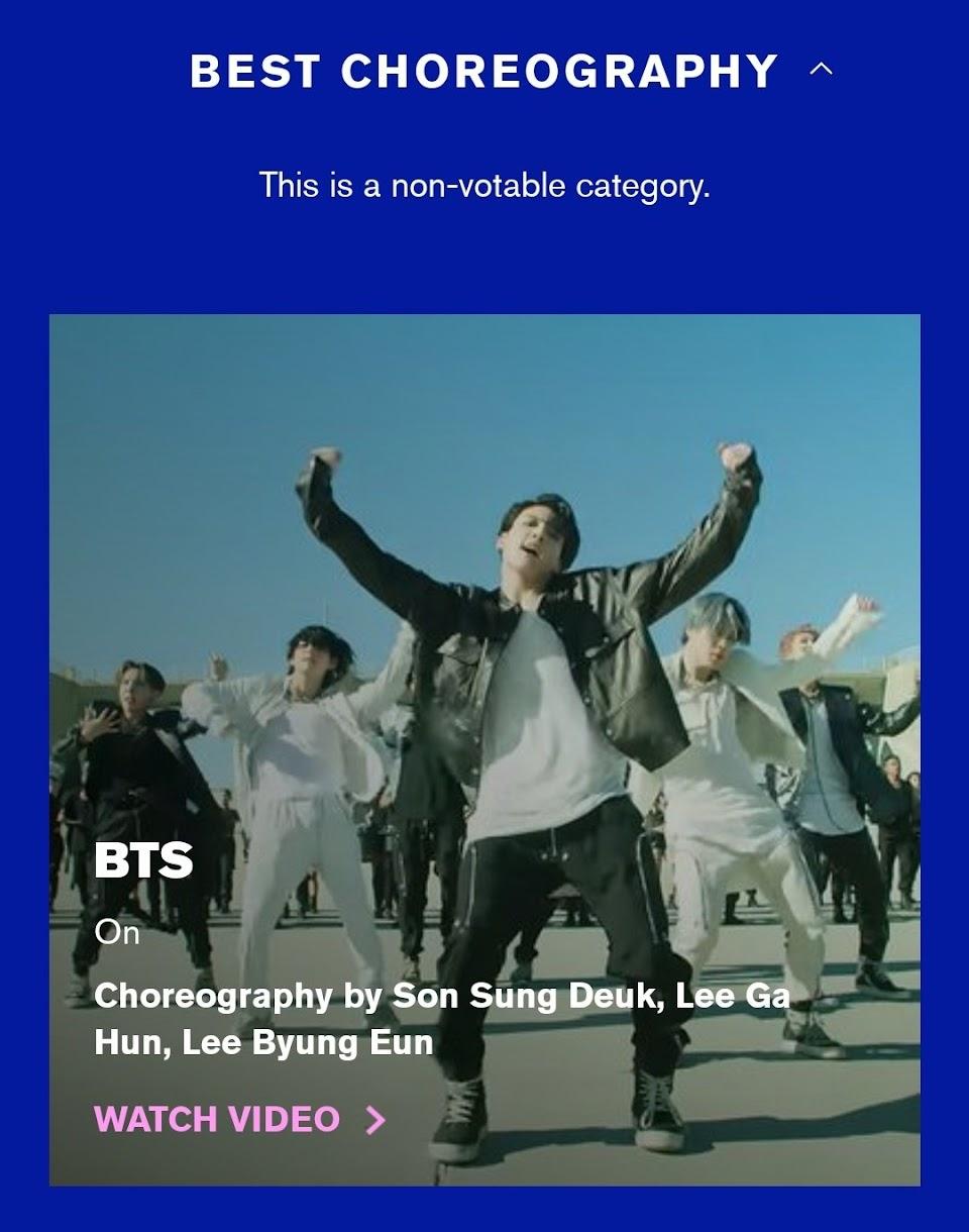 bts choreography