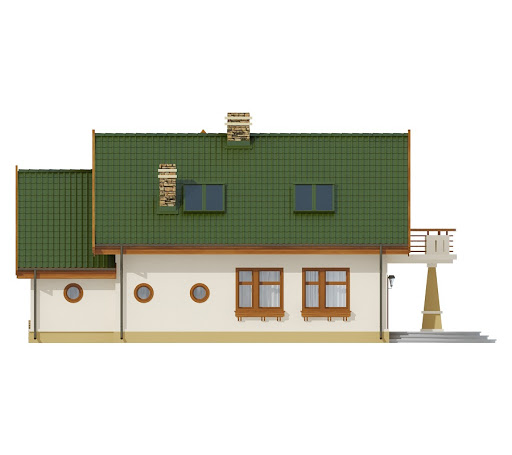 Sójka II z garażem 1-st. A - Elewacja tylna