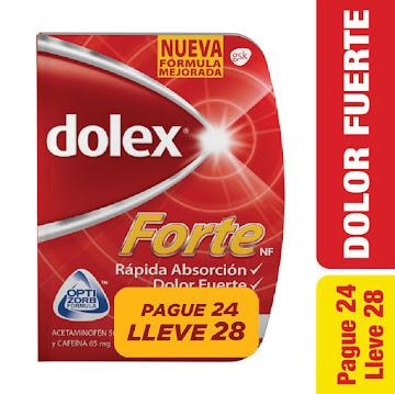 Oferta Dolex Forte Pague   24 lleve 28