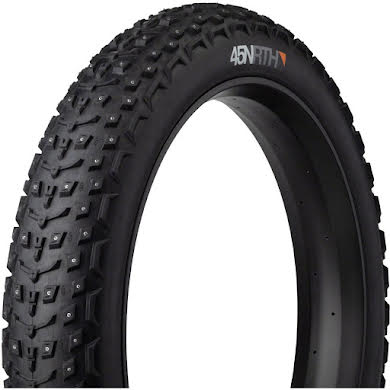 "45NRTH Dillinger 5 Studded Fat Bike Tire: 120tpi 26x4.6"", 258 Concave Studs, Tubeless Ready"