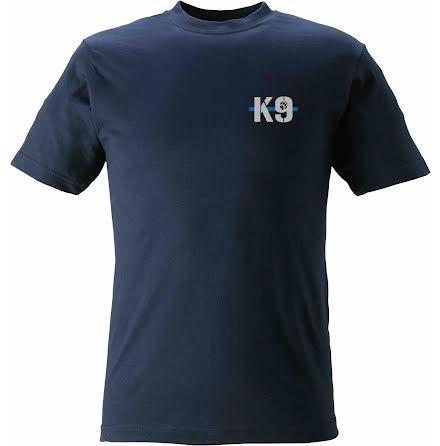 T-shirt K9 med tass marinblå