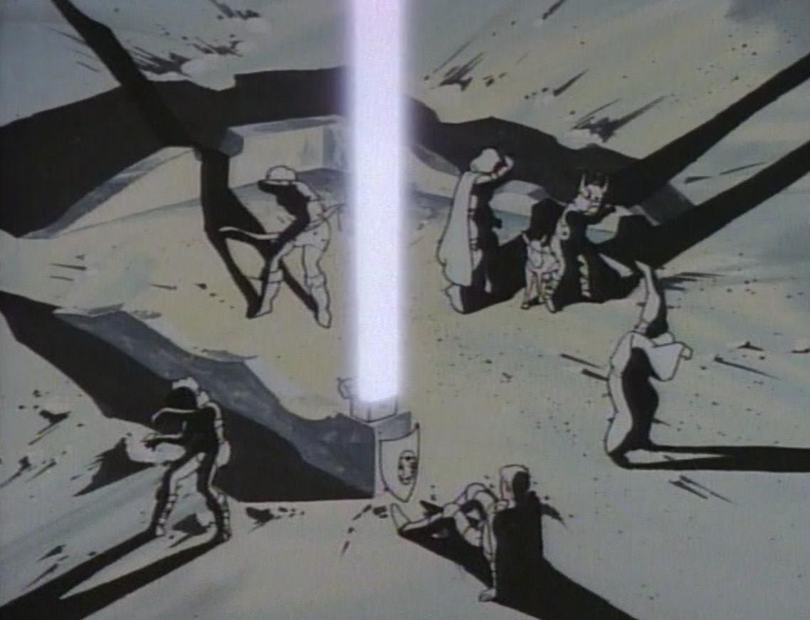 Blast of light from the Box of Balefire