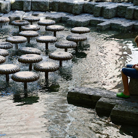 by OL JA - City,  Street & Park  Fountains