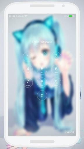 Kawaii Girl Lock Screen 1.0 screenshots 5