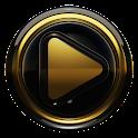 Poweramp skin Black Gold icon