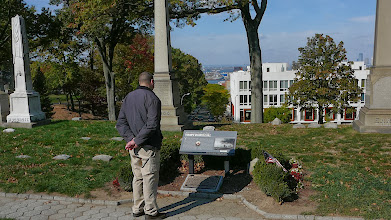 Photo: Matthew at the Battle of Long Island memorial