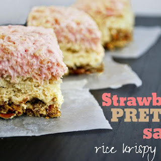 Strawberry Pretzel Salad Rice Krispy Treats
