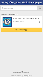 SDMS Events App - náhled