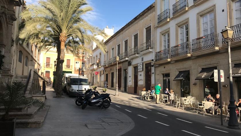 Calle Jovellanos, convertida en la Milla de Oro de la hostelería.