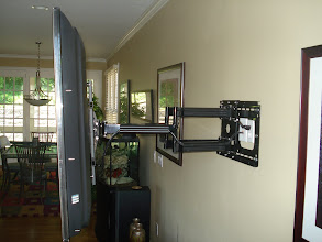 "Photo: Wall mount for 52"" Samsung at max extension"