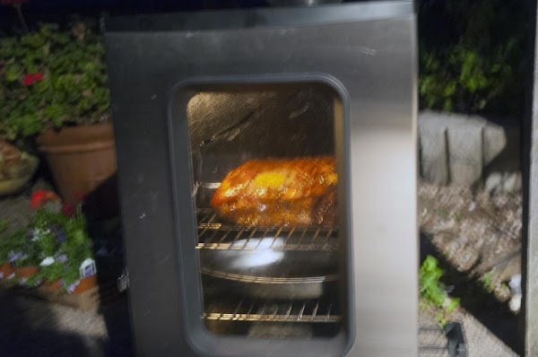 Get your smoker up and running, and set it to 225f (110c).