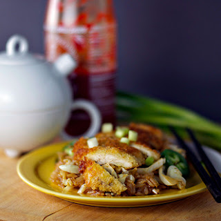 Spicy Cabbage Stir Fry with Panko-crusted Chicken