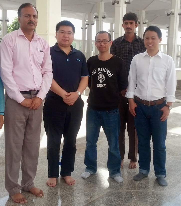 Staff with Chinese Delegation