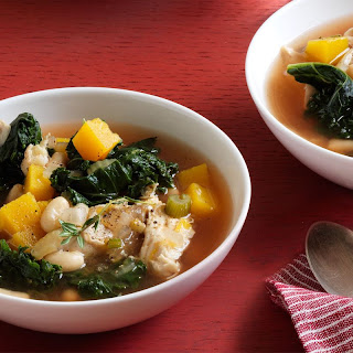 Kale, White Bean, and Butternut Squash Soup