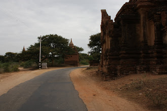 Photo: Year 2 Day 57 -  Quiet Road in Bagan Passing Alongside the Temples