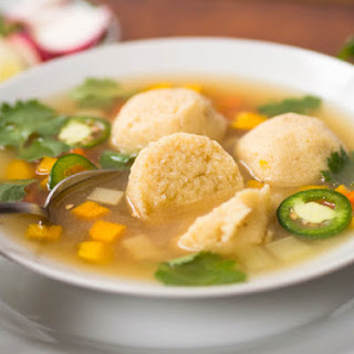 Masa Ball Soup (Mexican Corn Dumplings in Chicken Soup)