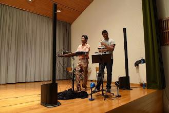 Photo: Die Tonmeister auf der Bühne