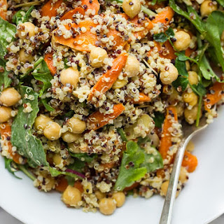Roasted Carrot Salad with Quinoa, Chickpeas + Everyday Dressing.